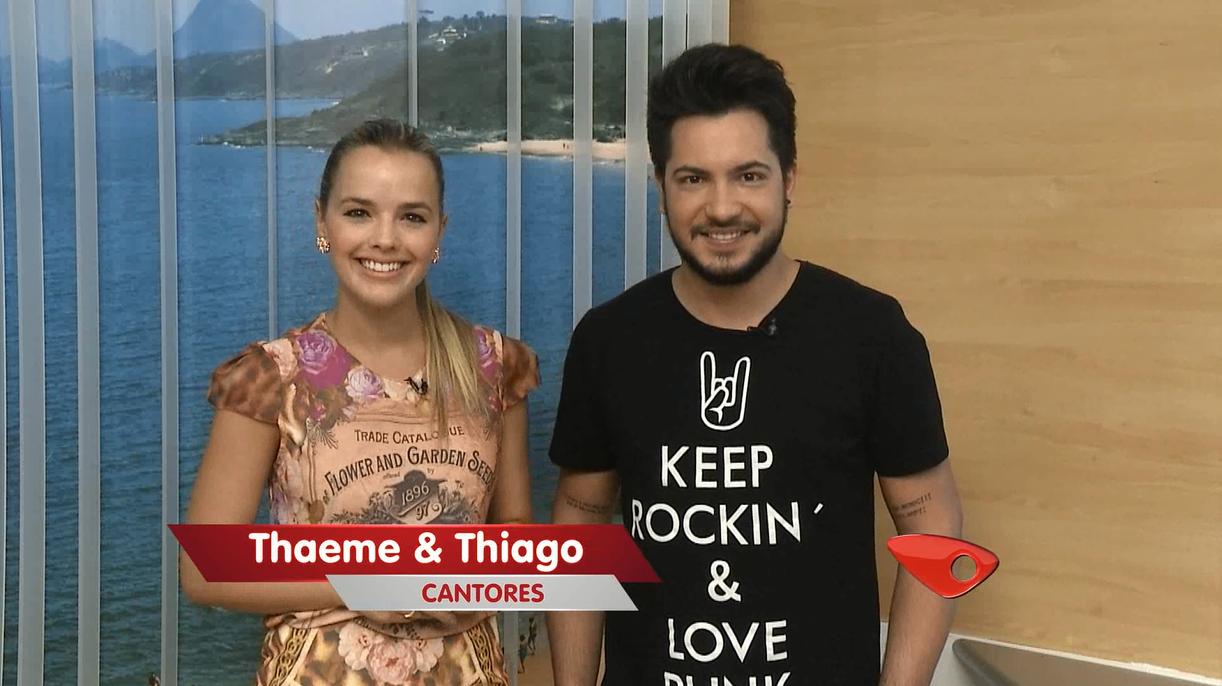 Thaeme e Thiago (Foto: Divulgação/ TV Gazeta)