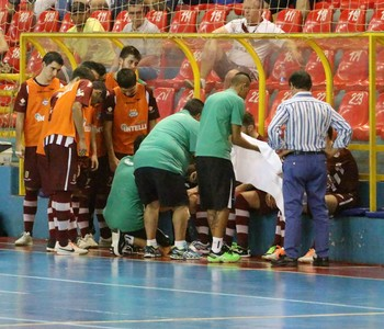 Comissão Técnica do Orlândia Futsal (Foto: Divulgação/Orlândia)