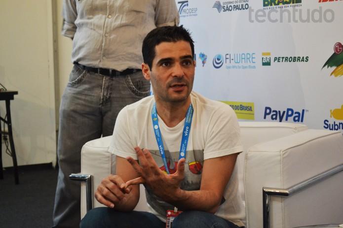 Talmon Marco em entrevista ao TechTudo na Campus Party 2014 (Foto: Melissa Cruz/TechTudo)