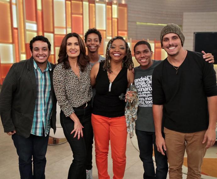 Clique dos bastidores do 'Encontro' (Foto: Isabella Pinheiro/Gshow)