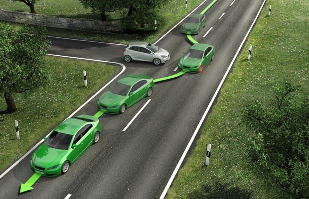 O ESC muda o caminho do carro freando uma roda de maneira a manter o rumo pretendido (Foto: Divulgação)