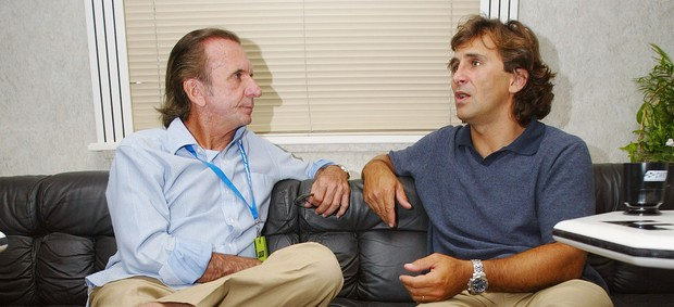 Emerson Fittipaldi e Alex Zanardi  (Foto: Getty Images)