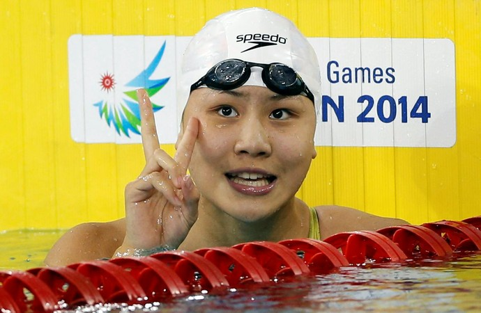 Chen Xinyi natação China Rio 2016 (Foto: Reuters)