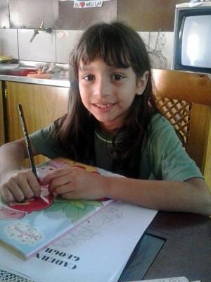 Sophia nasceu em Rio Branco (AC), mas desde março deste ano está morando com o pai em Campestre (MG) (Foto: Reprodução/ Arquivo Pessoal)