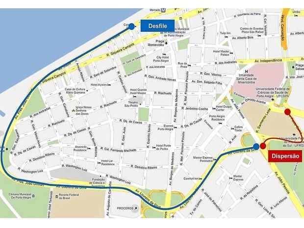 G1  Ruas tero bloqueios para desfile de 7 de setembro em Porto