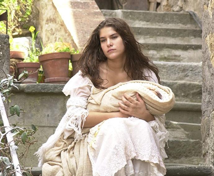 Priscila Fantin na novela Esperança, em 2002 (Foto: CEDOC/TV Globo)