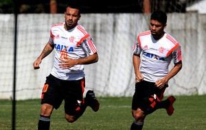 eduardo da silva canteros Flamengo treino (Foto: Gilvan de Souza)