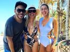 Otaviano Costa baba por corpão de Flávia Alessandra: 'Não faz nada feio'