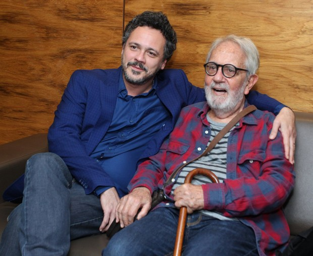 Danton Mello e Paulo José (Foto: Marcello Sá Barretto/AgNews)