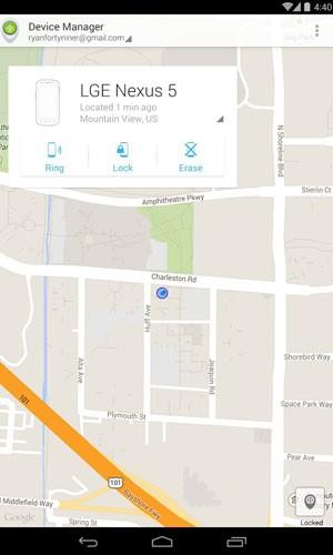 Google lança aplicativo 'Gerenciador de dispositivos Android' que localiza aparelhos perdidos ou roubados. (Foto: Reprodução/Google)