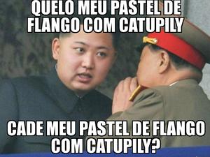 Ditador da Coreia do Norte é alvo de memes relacionados a pastéis (Foto: Reprodução)