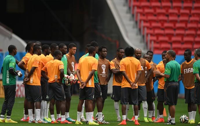 Costa do Marfim treino (Foto: AFP)