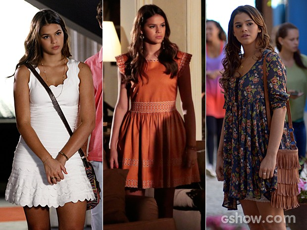 Os vestidos românticos de Luiza encantaram as espectadoras (Foto:  Inácio Moraes / TV Globo)