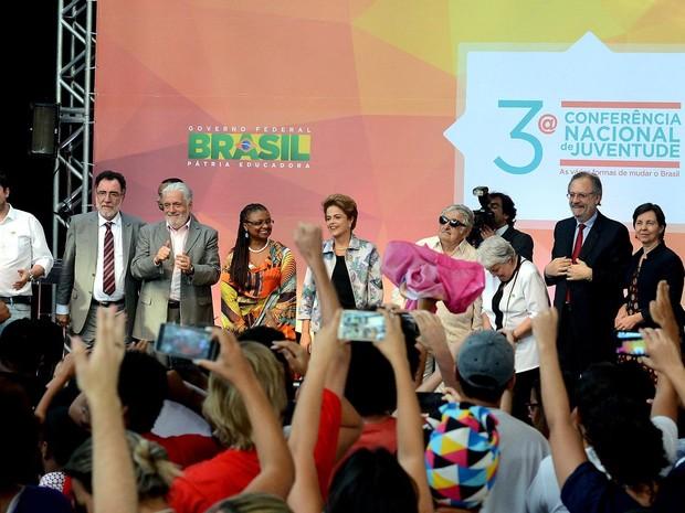 A presidente Dilma Rousseff durante a abertura da 3ª Conferência Nacional da Juventude, em Brasília, no dia 16 de dezembr (Foto: Wilson Dias/Agência Brasil)