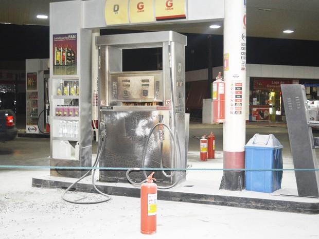 Posto de combustíveis em Mossoró também foi alvo dos ataques criminosos (Foto: Alcivan Vilar/Fim da Linha)