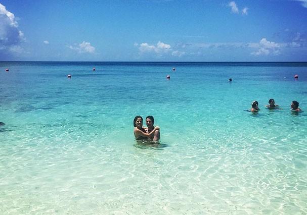 Ingrid Guimarães e o marido, Renê Machado, nas Bahamas (Foto: Reprodução/Instagram)
