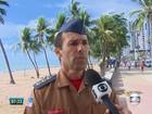 Praia de Noronha em que houve ataque de tubarão permanece fechada