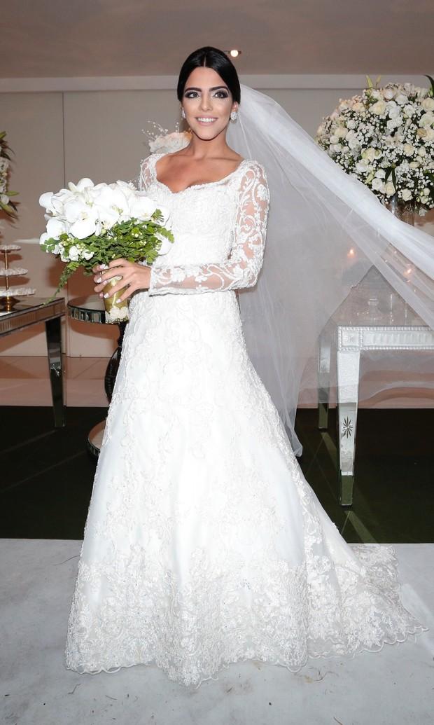 Casamento do jogador Lucas Moura com Larissa Saad (Foto: Rafael Cusato/EGO)