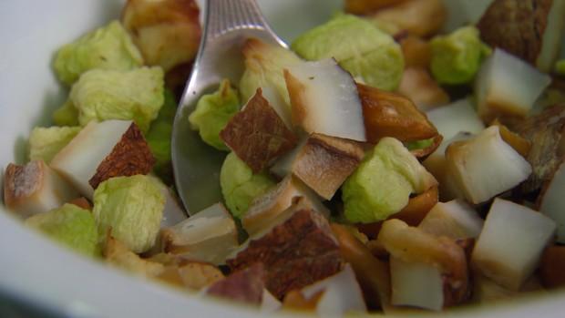 Snack de coco, maçã e chuchu  (Foto: Globo Repórter)