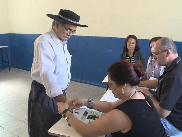 Eleição Barra do  Quaraí Rio Grande do Sul (Foto: Reprodução/RBS TV)