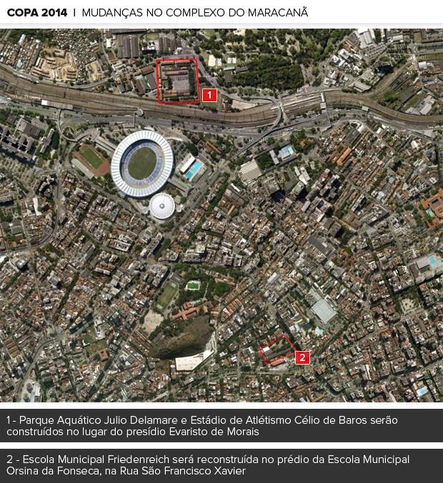 MOSAICO complexo maracanã (Foto: Editoria de Arte / Globoesporte.com)