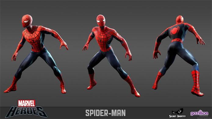 Homem-Aranha está em Marvel Heroes Online 2015 (Foto: Divulgação)