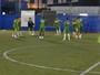 Santos-AP treina em campo society antes de enfrentar o Peixe, na Vila