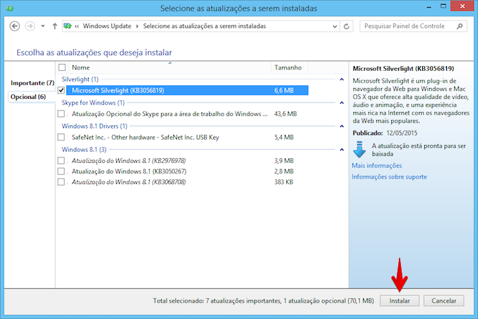 Instalando o Microsoft Silverlight (Foto: Reprodução/Helito Bijora)