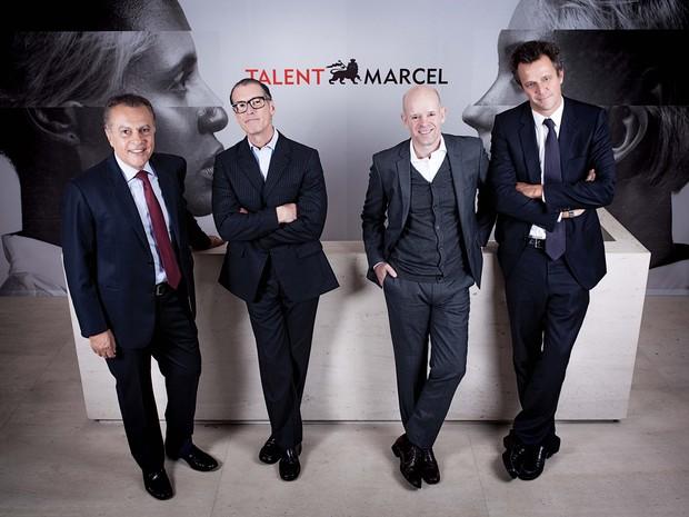 José Eustachio e João Livi (no centro), atual e novo CEO da Talent Marcel (Foto: Divulgação)