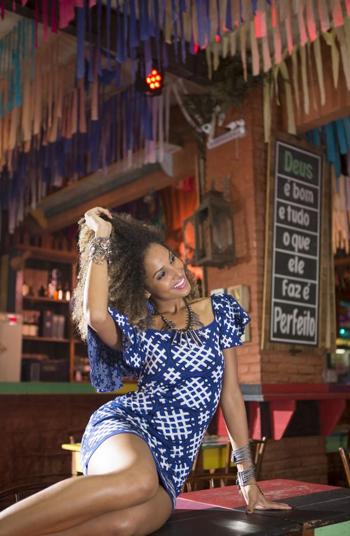 Erika Moura é a musa do Carnaval da vinheta da TV Globo  (Foto: Carol Caminha/Gshow)