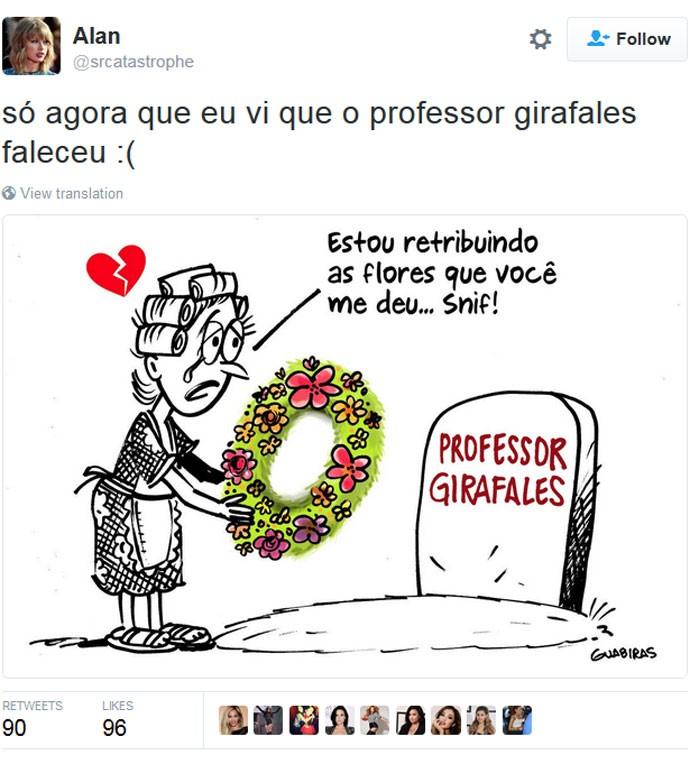 Professor Girafales, de 'Chaves', é homenageado por fãs nas redes sociais