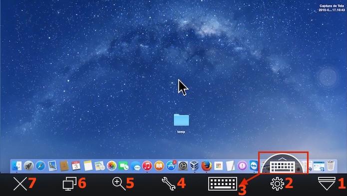 Visualizando as tela remotas e as ferramentas de uso do TeamViewer (Foto: Reprodução/Edivaldo Brito)
