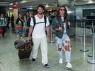 Sabrina Sato e Duda Nagle são fotografados em aeroporto