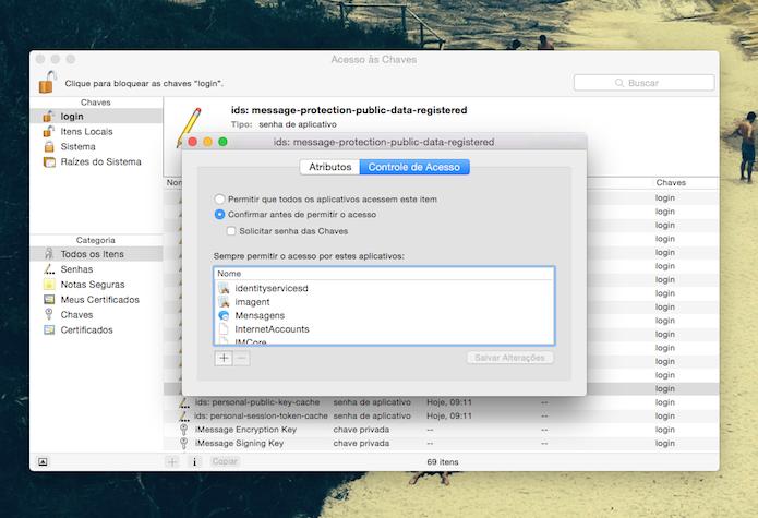 Utilitário Acesso às Chaves do Mac OS X (Foto: Reprodução/Marvin Costa)