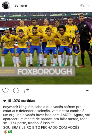 Neymar desabafa no Instagram (Foto: Reprodução)