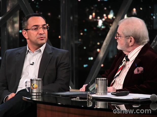Maurício Noriega participam do Programa do Jô desta segunda-feira (Foto: TV Globo/Programa do Jô)