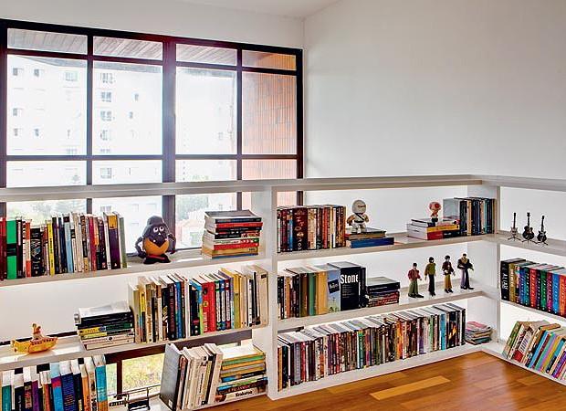 Proteção com estante  (Foto: Edu Castello)