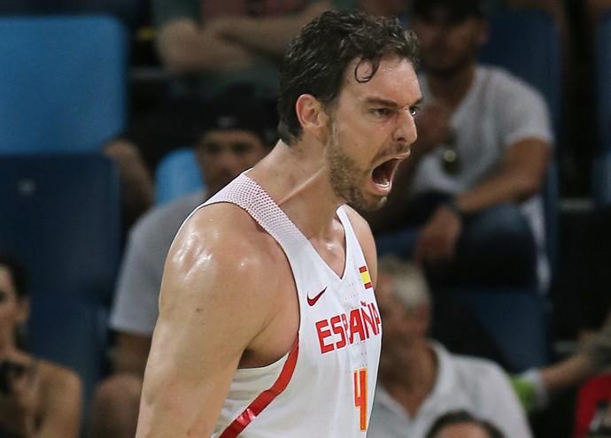 Espanha x Estados Unidos basquete masculino Pau Gasol (Foto: Reuters)