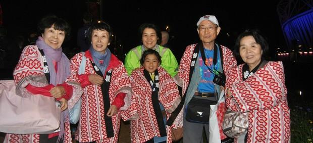 Família Takahashi Japão abertura Jogos (Foto: João Gabriel Rodrigues / GLOBOESPORTE.COM)