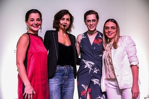 Simone Ferraz, gerente de marketing da Vogue Eyewear  no Brasil; Camila Lima, editora de moda de Marie Claire; Sophia Abrahão e Kellen Dallanese, diretora de marketing da Luxottica (Foto: Divulgação)