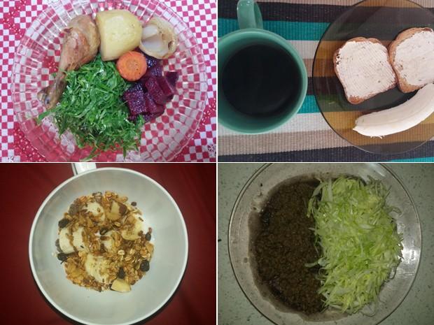 Hoje, refeições de Maryane são leves e variadas: verduras, legumes, frutas e alimentos integrais fazem parte de sua rotina (Foto: Maryane Coan/Arquivo pessoal)