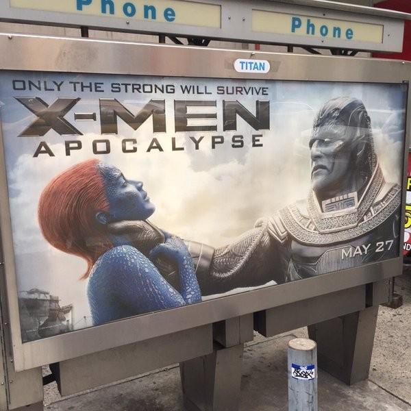 O material de divulgação de 'X-Men: Apocalipse' que é alvo de críticas (Foto: Reprodução)