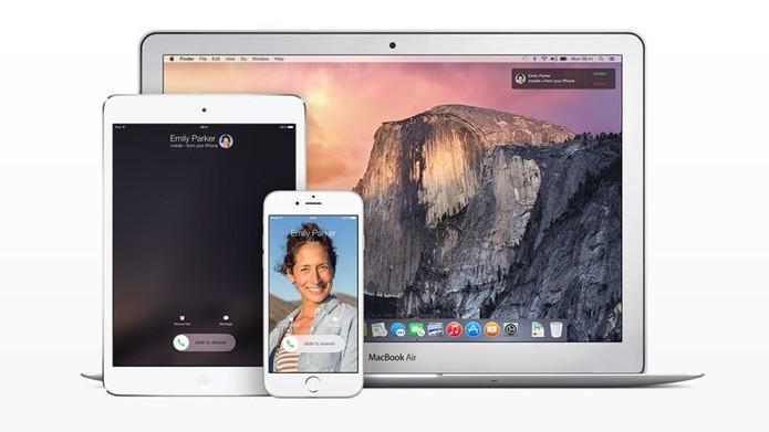 Continuity chegou com iOS 8 e Mac Yosemite para fazer dispositivos trabalharem juntos (Foto: Divulgação/Apple)