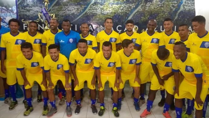 CSA apresentação elenco Mutange (Foto: Augusto Oliveira/GloboEsporte.com)