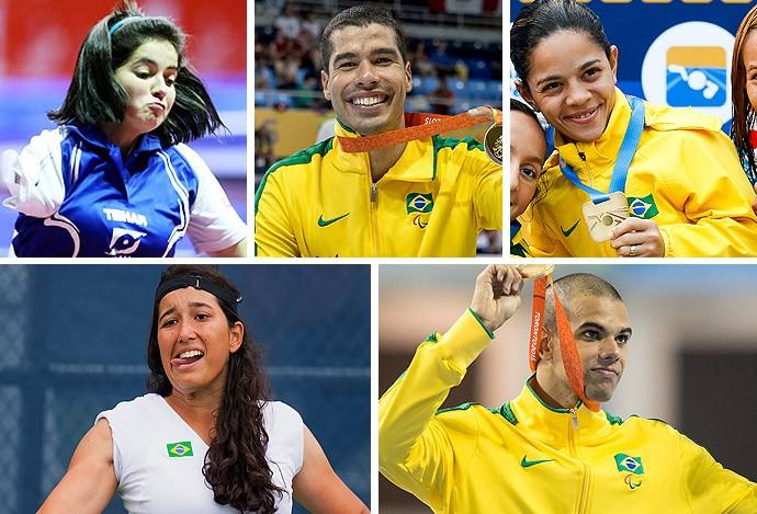 Montagem paratletas classificados para o Rio 2016 (Foto: Editoria de Arte)