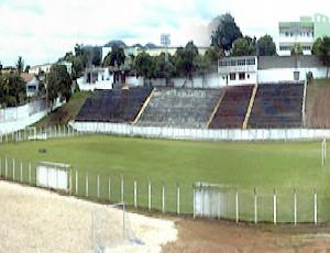 Estádio Eugenio Bitti, o Bambu, em Aracruz (Foto: Reprodução/TV Gazeta)