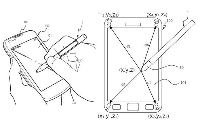 Galaxy Note 4 pode ter caneta S Pen equipada com um sistema de rastreamento ultrassom (Foto: Arte/Divulgação)