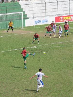 Portuguesa Santista e Grêmio Prudente (Foto: Antonio Marcos)