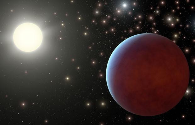 Ilustração de um dos planetas localizados em um aglomerado de estrelas (Foto: Nasa/JPL-Caltech)