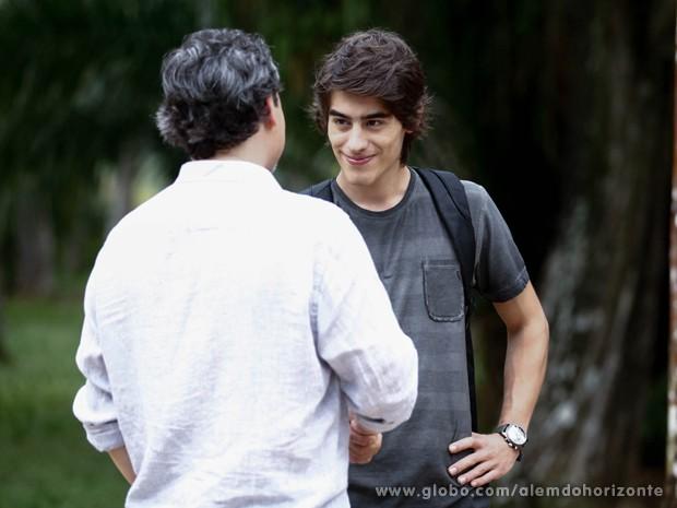 Rafa fala que gostaria de levar Lili para o Grupo (Foto: Inácio Moraes/TV Globo)